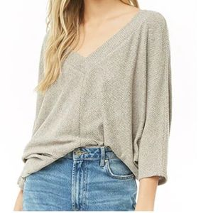 NWT: heather gray ribbed top